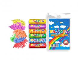 Хлопушка 100мм радуга (6шт конфетти)
