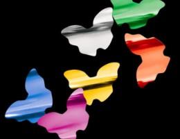 Металлизированное конфетти Бабочки 4,1см мульти