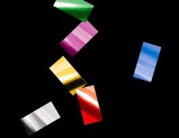 Металлизированное конфетти 10х20мм мульти