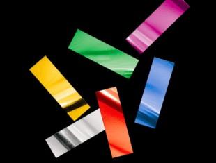 Металлизированное конфетти 17х55мм