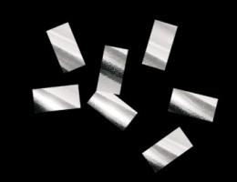 Металлизированное конфетти 10х20мм серебро