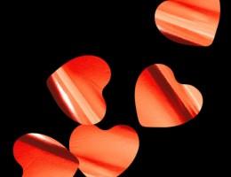 Металлизированное конфетти Сердца 4,1см красный