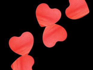 Бумажное конфетти Сердца 4,1см