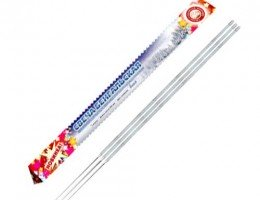 Свеча бенгальская 400 мм новогодние (3 шт желт)
