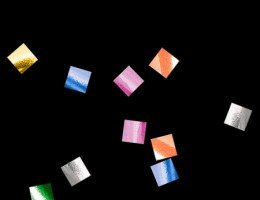 Металлизированное конфетти 6х6мм