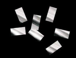 Металлизированное конфетти Серебро 10х20мм