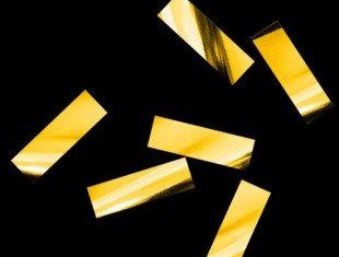 Металлизированное конфетти Золото 17х55мм